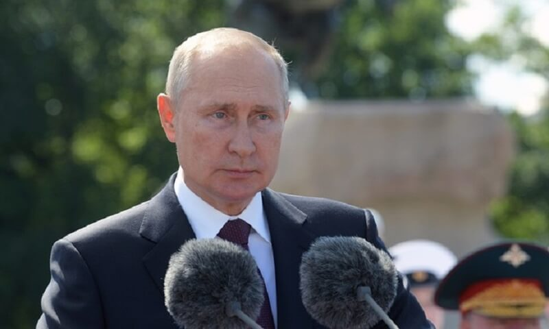 Tổng thống Nga Vladimir Putin phát biểu tại một sự kiện ở thành phố Saint Petersburg hôm 26/7. Ảnh:Reuters.