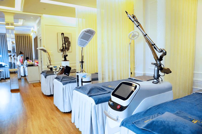 Hệ thống máy móc, thiết bị hiện đại được trang bị tại Viện Thẩm Mỹ Diva