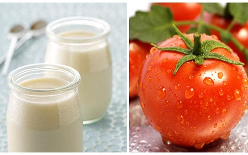 1/ Mẹo trị nám da bằng cà chua và sữa tươi
